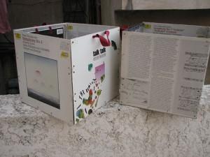 קופסאות מעטיפות תקליטים ישנים