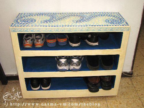 שידה מקרטון לנעליים