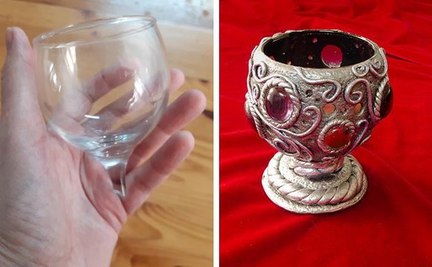 טרנספורמציה לכוס יין שבורה