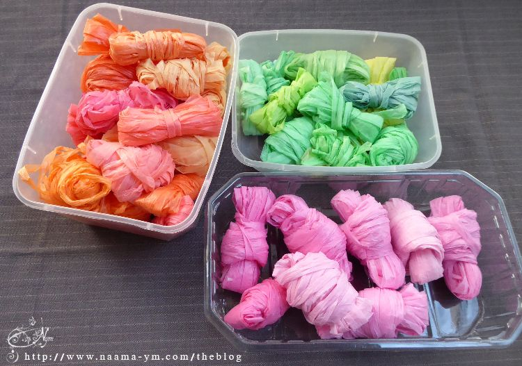 סלילים מוכנים בצבעים שונים