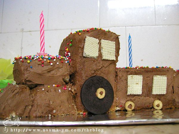 עוגת יום הולדת בצורת רכבת