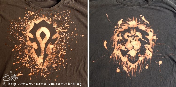 Horde and Alliance T-shirts